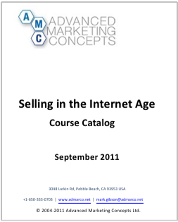 Selling in the Internet Age - Course Catalog